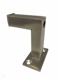 steel handrail bracket for leather handrails