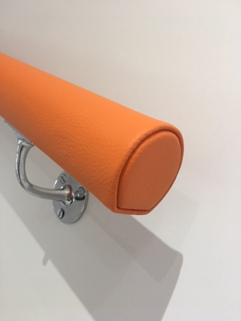 bespoke leather wrapped handrails